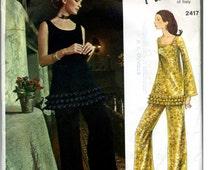 Vintage Vogue Pattern # 2417 PUCCI, 60's pant suit size 10