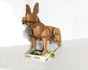 Billo French Bulldog, sculpture cardboard, 3d animal, interior design, home decor, animal sculpture, lovers animal, sustainable, gift Vegan