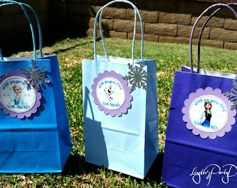 FROZEN, Anna, Elsa, Olaf, 10ct., goodie bags, with Tag
