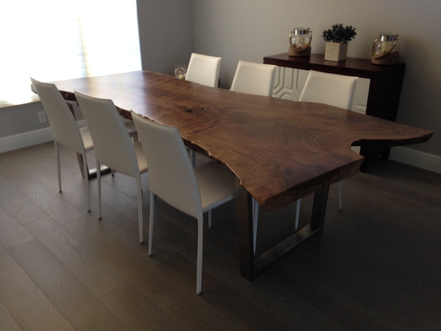 live edge dining table live edge table wood slab dining. Black Bedroom Furniture Sets. Home Design Ideas
