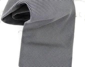 Piccadilly Neck Tie, Dark Blue with White Dots, Retro, Silk Tie, Suit Tie, Business Tie, Mourning Tie,  Menswear, Mens Accessories,
