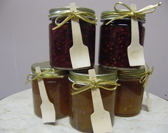 wedding favors 4 oz. jam jelly preserves fruit butter -handmade for parties events holidays preservative free CUSTOM - Discounts Available