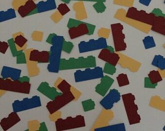 Lego Themed Table/Card/Envelope Confetti