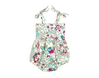 Bubble Romper, Sunsuit, Baby Bubble Romper, Toddler Bubble Romper, Baby Sunsuit, Toddler Sunsuit, Girls Romper in Pop Art Floral