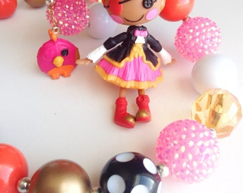Chunky necklaces with lalaloopsy pendant
