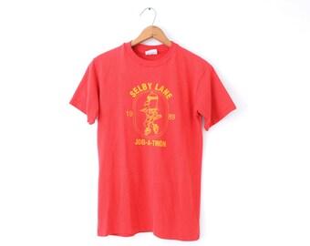 SMALL Vintage 1989 Selby Lane Jog-A-Thon Citation Homes Inc. Graphic T-Shirt