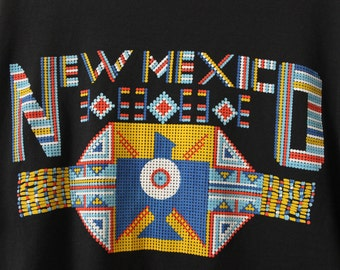 LARGE Vintage 1980s NEW MEXICO Soft and Thin Graphic T-Shirt