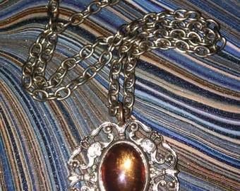 Vintage necklace glass cabochon