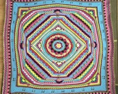 Free Shipping! Sophie's Universe Large Crochet Heirloom Blanket Throw Afghan