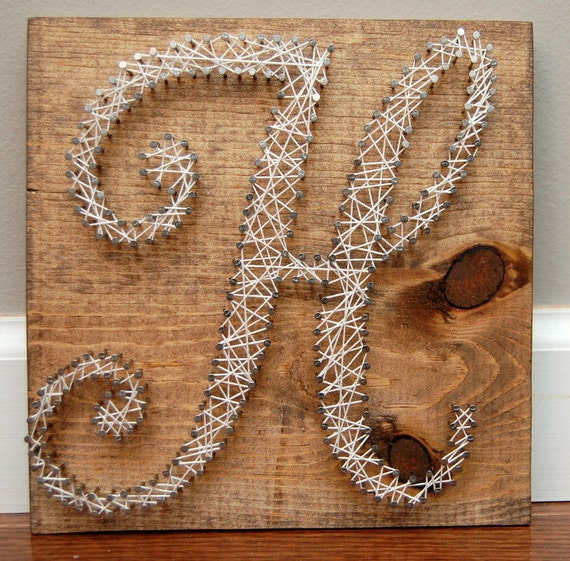 letter a string art items similar to wood and nails personalized letter h for 9773