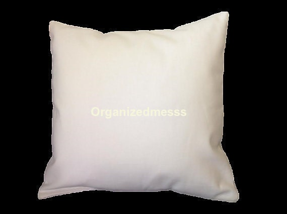White canvas pillow cover blank throw pillow by organizedmesss