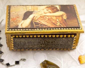 Personalized jewelry box wood wooden retro style Handmade vintage jewelry box accessories box wooden jewelry box jewelry boxes steampunk