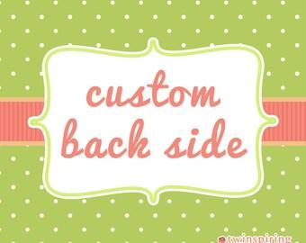Custom Back Side for Invitations