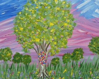 The Painting Tree, Acrylic on Canvas, Size 16x12""