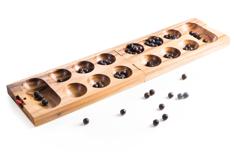 Mancala board game wood strategy