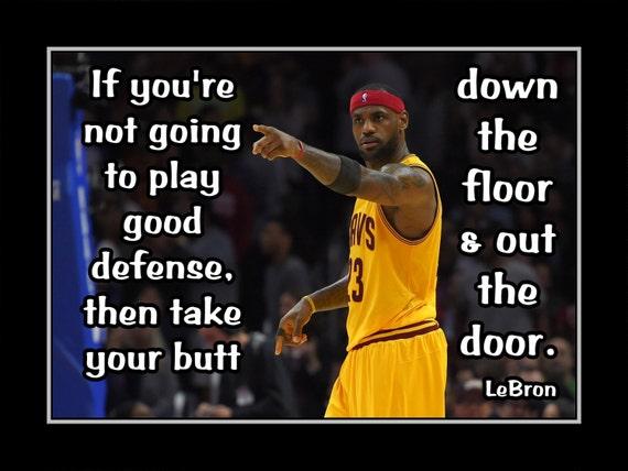 Lebron James Basketball Motivation Poster Son Defense