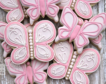Butterfly Decorated Sugar Cookies // Garden Party
