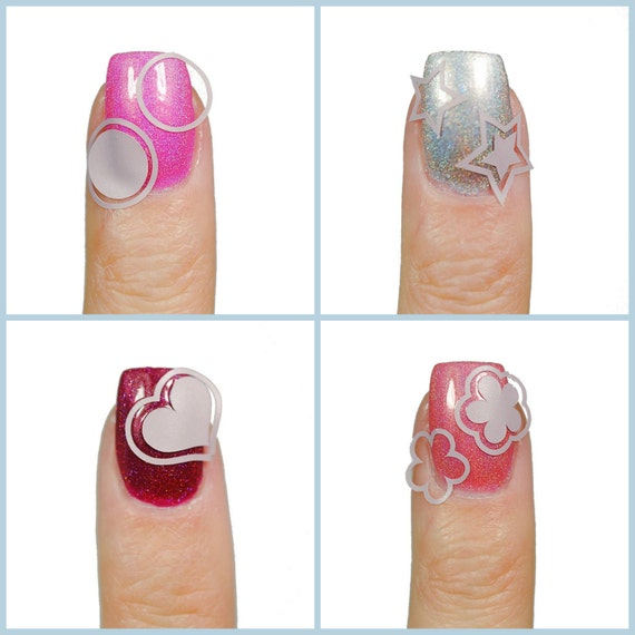 Nested Basic Shapes Vinyl Nail Guides From Beyondthenail