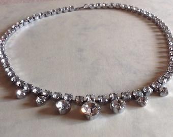 Vintage 1950s Diamante necklace