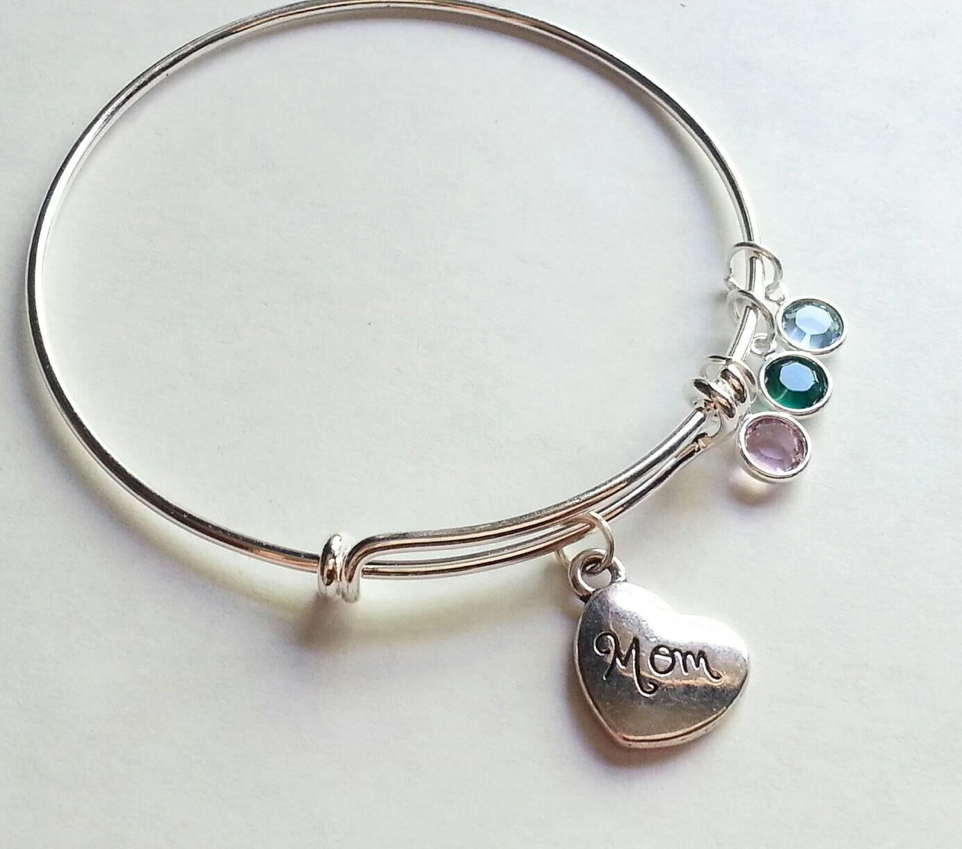 18th Birthday Cz T Bar Sterling Silver Heart Bracelet Can: Silver Mom Bracelet Adjustable Bangle Add A By