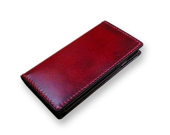 Leather iPhone 7  Case Wallet , iPhone 6 Wallet- Handmade iPhone SE case wallet