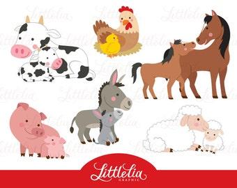 Baby Farm Animals Clip Art farm animal clipart cattle barn animals cow bull rooster