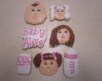 1 Dozen Baby Alive Hand Decorated Cookies