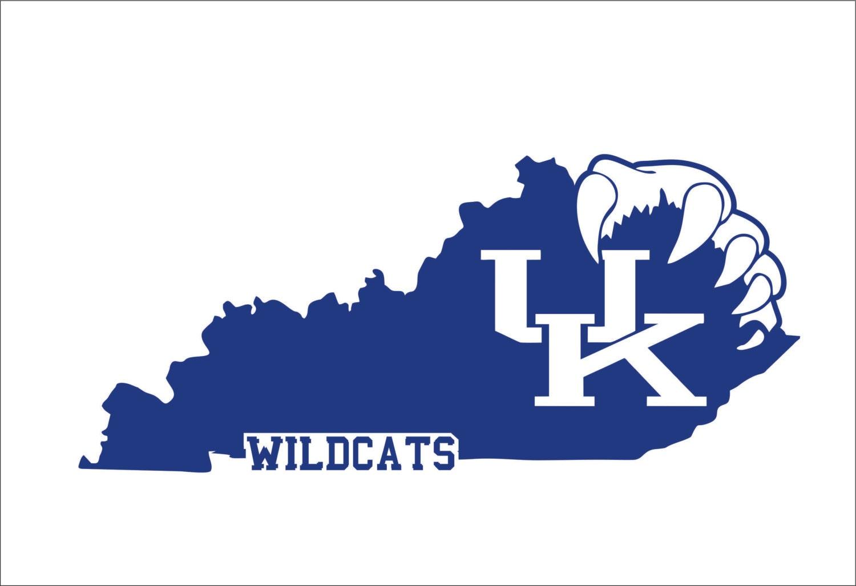 Uk Basketball Clip Art: Kentucky Wildcats SVG EPS DXF Instant Digital Download Cutting