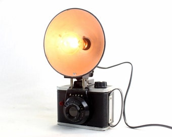Table Lamp - Desk Lamp  - Ansco Readyflash Vintage Camera