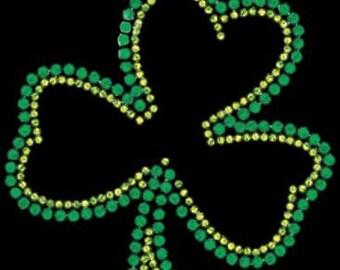 Shamrock Rhinestones T-shirt St. Paddy's Day St. Patrick's Day Irish