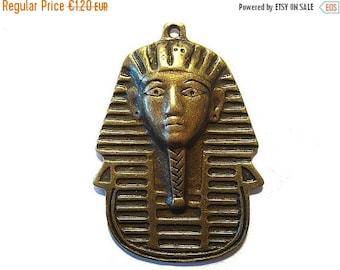 ON SALE Pharao Anhänger 50x35x6mm Tutanchamun Pendant