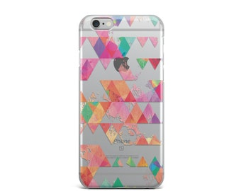 iPhone 6 case clear iPhone 6s case Triangle iPhone 6s case Geometric iPhone 6 case Colorful iPhone 6s case triangle iphone, ombre