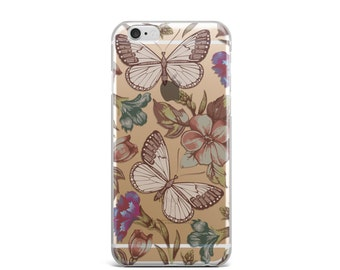 iPhone 6 Case Clear, iPhone 6s Case, Transparent iPhone 6 Case, iphone 6s case clear, iphone 7 case clear, iphone case clear - Butterfly