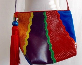 1980's New Wave  Shoulder Bag Accents by Sharif