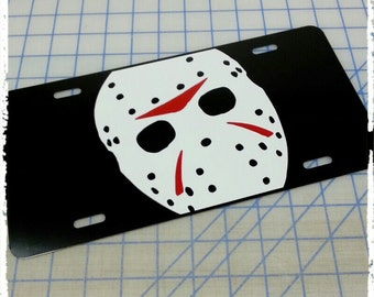 Friday the 13th Jason Voorhees Custom License Plate