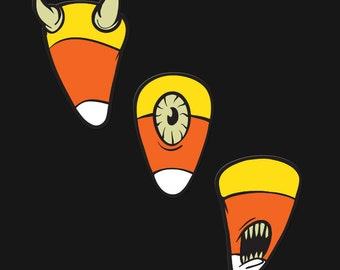 Candy Corn Enamel Pin Set - All Three Pins