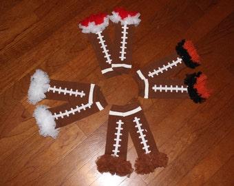 Football Baby Leg Warmers// Toddler Leg Warmers// Girl Leg Warmers