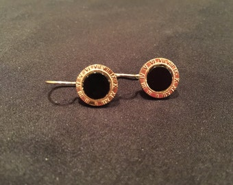 Beautiful Black, Silver and Gold Earrings