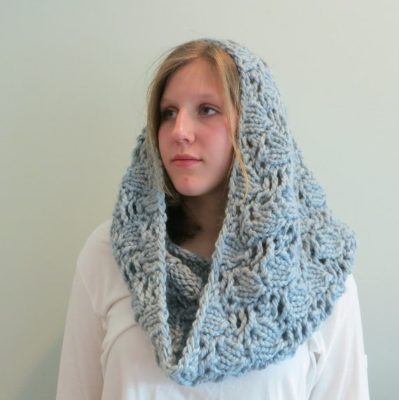 Knitting Pattern, Cowl, Infinity Scarf, Super Bulky Yarn ...