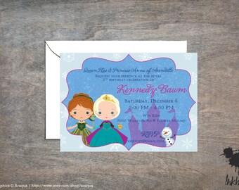 Frozen Invitation (25 Invitations)