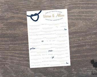 Modern Nautical Shower MadLibs (25 Sheets)
