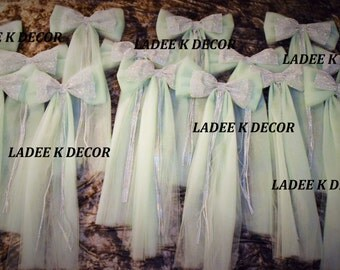 Set Of 14 Church Aisle Decor Wedding Pew Bow Sweet 16 Quinceanera