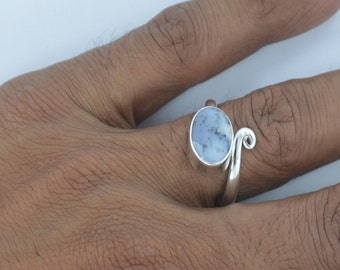 Dendrite Opal Ring 925 Sterling Silver,Opal Gemstone Ring,stone ring,Dendrite Opal Silver Ring,Solid 925 Fine Silver Opal Adjustable Rings