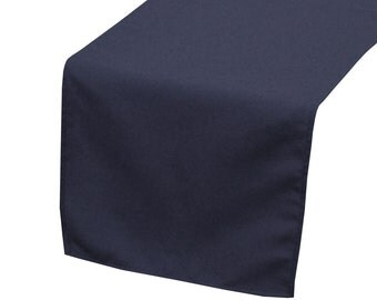 Navy Blue Polyester Table Runner | Wedding Table Runners