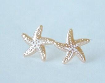 Starfish Studs Sea Star Earrings Beach Star Earrings Resin Starfish Jewelry Nautical Earrings Beach Wedding Earrings Gift Under 10 Dollars