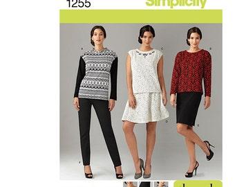 Simplicity 1255 AA, Simplicity Sewing Pattern 1255 aa, Misses' Sportswear Pattern, Skirt Pattern, Pants Pattern, FREE SHIPPING, Sizes 10-18