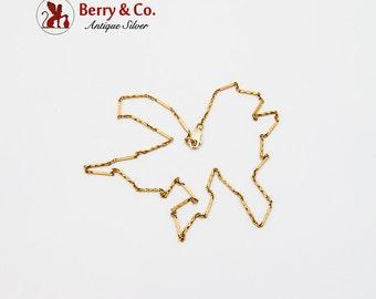 Ornate Geometric Chain 14 K Yellow Gold