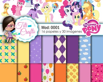 Digital paper kit Mod: 0001-My Little Pony