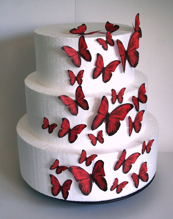 papillons comestibles wedding cake topper papillons