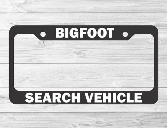 slap art bigfoot search vehicle funny joke by vinylmasterpieces. Black Bedroom Furniture Sets. Home Design Ideas